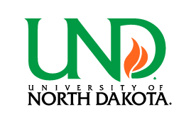 UND vertical logo on white